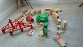 ~ 100 piece train set and trains