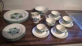 Pool Pottery dinner set