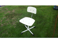 GREAT 70s 80s OFFICE / COMPUTER DESK CHAIR ADJUSTABLE UP DOWN VERY COMFORTABLE MINIMALIST TACTILE