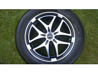 "Alloy wheels and Michelin tyres 16""X 6.5J, will fit Audi, VW with 5 stud wheels. £150 ovno"