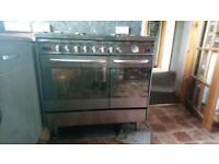Baumatic 6 ring gas burner with duel ovens