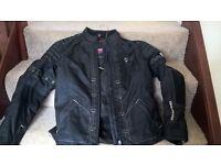ladies black denim trousers & jacket set