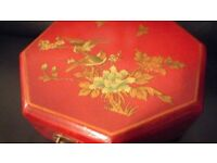(102) NEW, Jewellery Box with a traditional Chinese clasp; Multifunctional STORAGE BOX