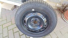 Skoda Fabia as new steel wheel and tyre Continental 185/60R14