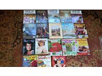 1990's Magazines,Homes & Gardens,Country Life,Gardners World & Saga Magazine