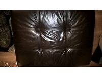 Large leather footstool with storage from scs