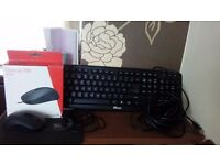 Optical 200 mouse microsoft/mouse mat/trust keyboard and internet cable