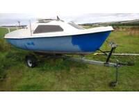 Skipper 17 sailing boat and trailer