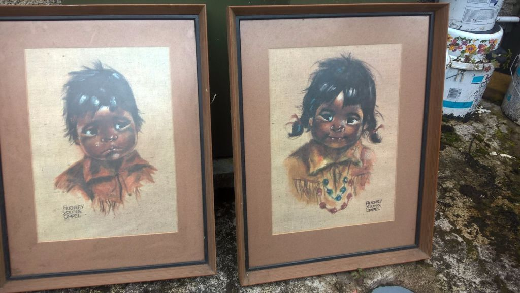 Pair Of Vintage Framed Prints By Canadian Artist Audrey