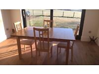 Ikea Dining Room Table & Four Chairs
