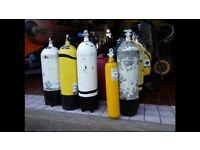 Scuba diving tanks bottles cylinders 3 12 15 litre