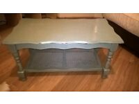 duck egg nkue annie sloan distressed shabby chic coffee table