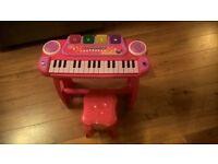 Kids keyboard and stool
