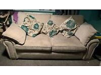 large 2seater double sofa bed and a large 3 seater sofa