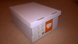 White flatpacked boxes x12 never used