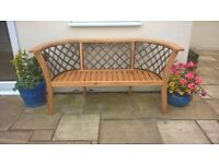 2 new garden benches available in dark wood, not light wood as shown in picture.