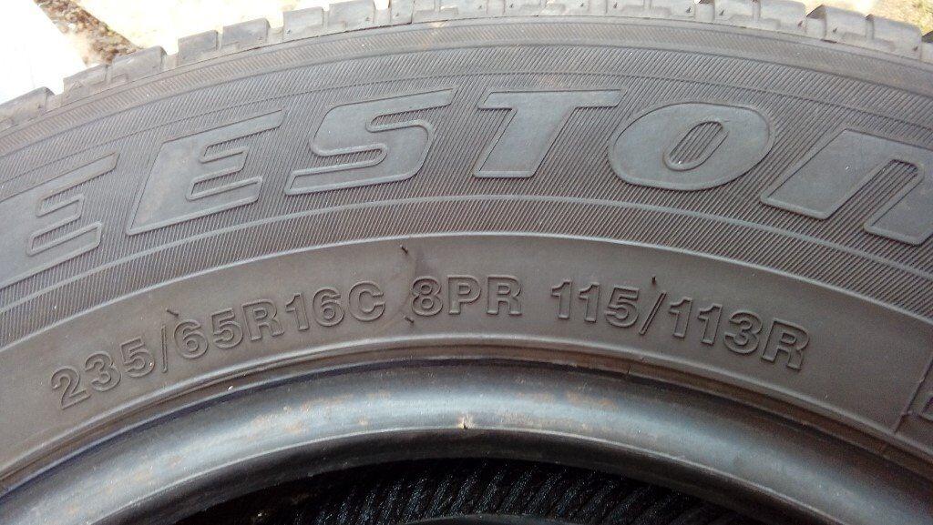 4 van tyres off Merc Sprinter like new