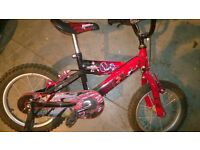"Power Rangers Bike 14"" wheels Like New"
