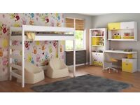 Used Loft Bed For Kids Children Juniors with Ladder on the Side (Short Edge)