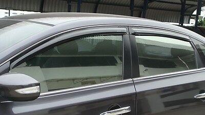 Fit For Nissan Nissan SylphySentra 12 15 Black Weather Guard Door Visor