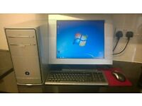 "custom built windows 7 desktop computer pc 7900gs graphics 3.0ghz cpu 2gb 300gb hd wifi 17"" monitor!"