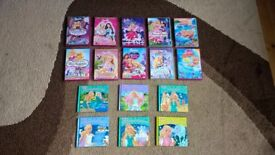 Barbie DVD's and books bundle