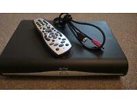 sky + hd box, remote and hdmi cable