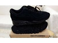 nike air max 90 hyperfuse VT QT all black suede ,size 7 9 10 11 BNIB RECORDED Delivery