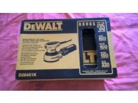 brand new unused dewalt 110 palm sander current model in original outer box and dewalt hardcase