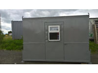PORTABLE CABIN - 12ft x 8ft - OFFICE/WORKSHOP/SHED/GARDEN HUT - SHIPPING CONTAINER