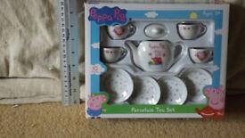New, unused, unopened Peppa Pig Porcelain Tea Set