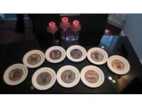 Set of Nine Vintage Hornsea Christmas Plates