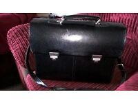 Leather Briefcase by Leonhard Heyden