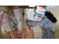 Baby 0-3 and 3-6 months clothes dresses tops vests leggings sleepsuits bundle