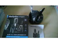 BaByliss Mens 10 in 1 Hair, Face and Body Grooming Trimmer