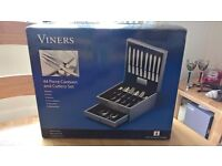 VINERS 44 PIECE CUTLERY CANTEEN – NEW & BOXED!