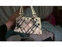 Authentic burberry handbag beautiful