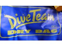 For water sports: A DIVETeam waterproof dry bag sack, 60L, plus a SealLINE clear dry bag sack, 10L.