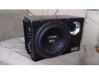 "Vibe 600 Watt 10"" Sub Subwoofer Built in Amp matching box"