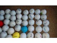 Mixed bag 50 golf balls, titleist, srixon callaway