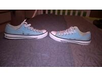 Baby blue converse size 6