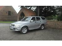 SSangyong Musso 290S 4x4 crew cab pick up. Merc engine and running gear. 2.9 turbo diesel. Manual