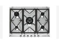 Brand new SMEG Victoria 5 burner 70cm stainless steel gas hob