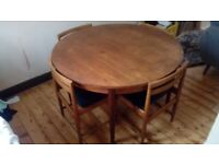 Fir sale Big juicy dining table and 4 chairs. Interesting trades considered.