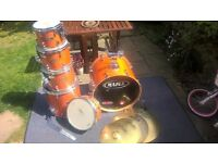 MAPEX M-Series 6 Piece Drum Kit with Cymbals