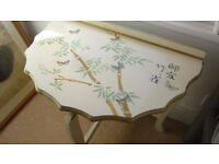 Lovely 3 Legged Table painted in Oriental Style