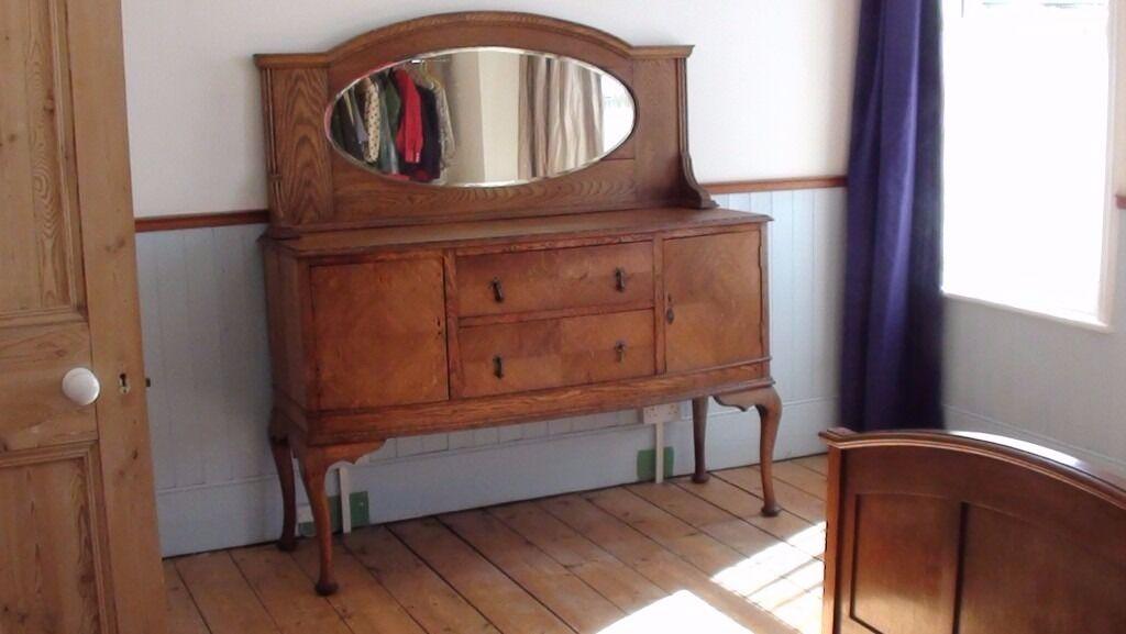 Oak Sideboard with mirror