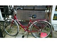 Ladies Raleigh town bike with basket 3 speed