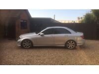 Mercedes C200 2.2 CDI 4 door saloon, AMG styling, 2012, 45,800 miles, 2 Owners, Immaculate