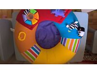 Red Kite Sit Me Up Inflatable Ring Baby Seat - zoo friends